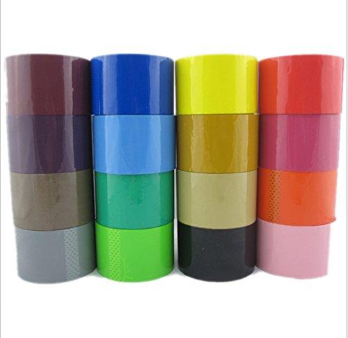 RZdeal Creative 6cm Colored Rolls Duct Tape Bulk Pack Arts C