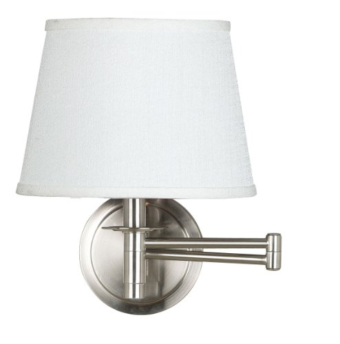 Kenroy Home 21011BS Sheppard Wall Swing Arm Lamp, 13 Inch He