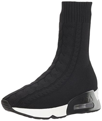 Ash Women's LIV Sneaker, Knit Black, 35 M EU (5 US)