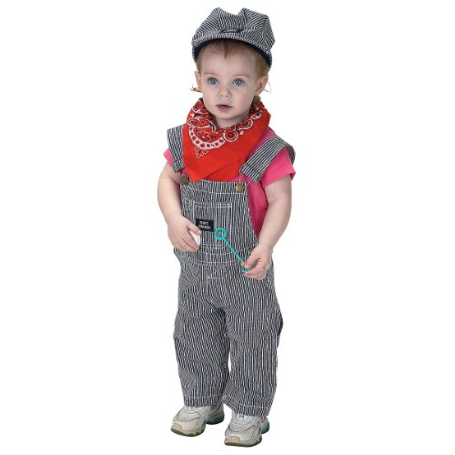 Aeromax Train Engineer Suit, 18 Months - Infant Conductor Costume