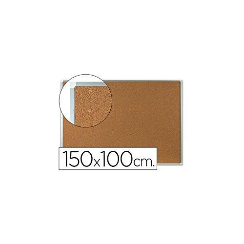 Q-CONNECT 933667Lavagna sughero quadro alluminio 150x 100cm Nero