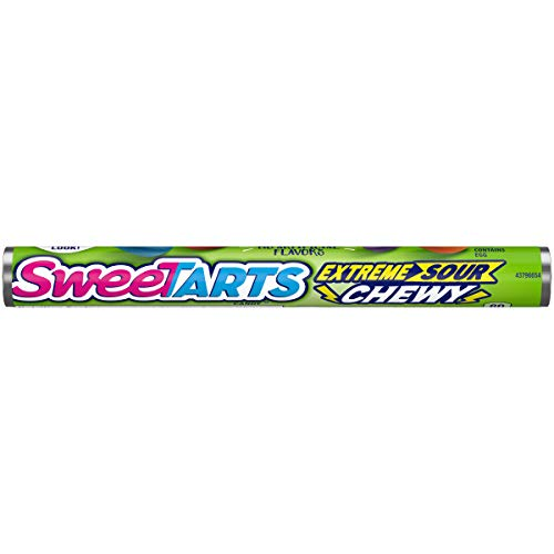 SweeTarts Chewy Sours Roll Formerly Shockers, 1.65 Ounce, 24 Count ()