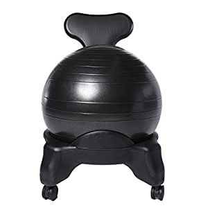 Ivation balance exercise ball chair office size 60mm 2 5 wheels starter pump - Replacing office chair with exercise ball ...