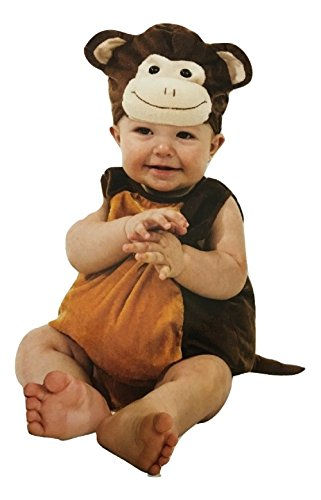 [Boo Babies Halloween Costume Mischievous Monkey Brown Sz 9-18 Months 4 Pieces] (Boo Costume Toddler)