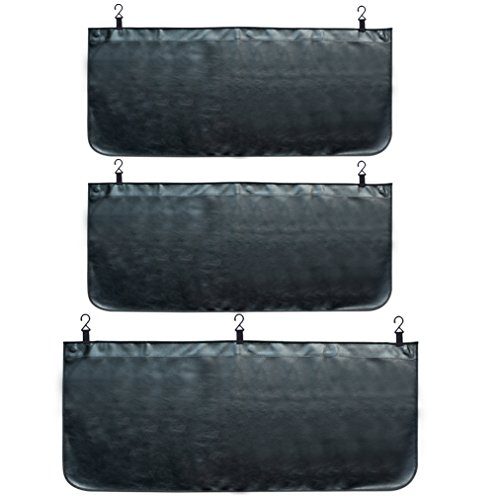 baotongle 3 PCS Automotive Mechanic Magnetic Leather Fender Cover Protector Gripper Automotive Mechanic Work Mat Pad Black