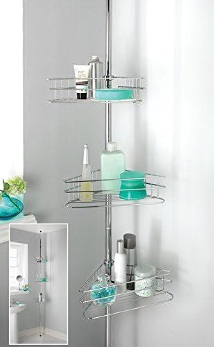 D&S Vertriebs GmbH Estantería telescópica para baño Estante ...