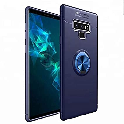 arrives 0e478 5d2bb Spazy Case® Samsung Galaxy Note 9 Back Case Cover Shock Proof Ring Stand  for Samsung Galaxy Note 9-Blue