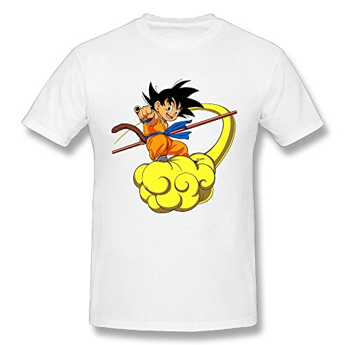 (Edongquwe Mens Cool Tees Dragon Ball Goku White S )