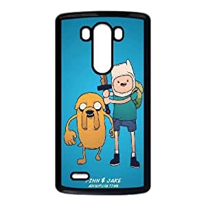 Adventure Time With Finn And Jake LG G3 Cell Phone Case Black DIY gift pp001-6356675
