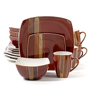 Gibson Regent Classic 16-Piece Dinnerware Set, Red