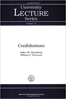 Book Confoliations (University Lecture Series) by Y. Eliashberg (1997-12-03)