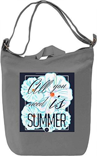 Summertime Print Borsa Giornaliera Canvas Canvas Day Bag| 100% Premium Cotton Canvas| DTG Printing|