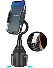 Lorima Car Cup Holder Phone Mount with a Long Flexible Neck for Cell Phones iPhone Xs/XS Max/X/8/7 Plus/Galaxy