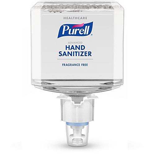 PURELL ES4 Healthcare Advanced Hand Sanitizer Gentle and Free Foam Refill, Fragrance Free, 1200 mL EcoLogo Certified Sanitizer Refill for PURELL ES4 Push-Style Dispenser (Pack of 2) - - Care Hand Personnel Health Wash