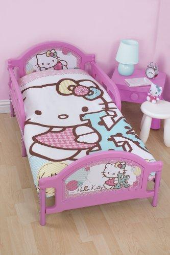Hello Kitty Stitch Junior Duvet Cover and Pillowcase Set - Hello Kitty Bath Set