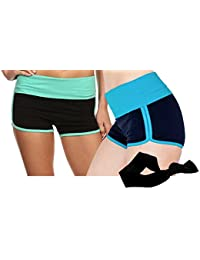 Womens Comfort Waist Colorblock Yoga Pants