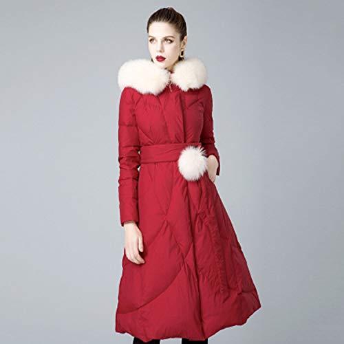 Da 90 Invernale Bianco In Volpe Collo Donna Piumino Pelliccia Red Finta Di Abbigliamento 1dwvaaq