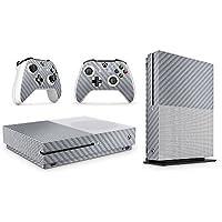 Xbox One Vinyl Skin Estampas Compatible Con Xbox One (Fibra de Carbono Plata)