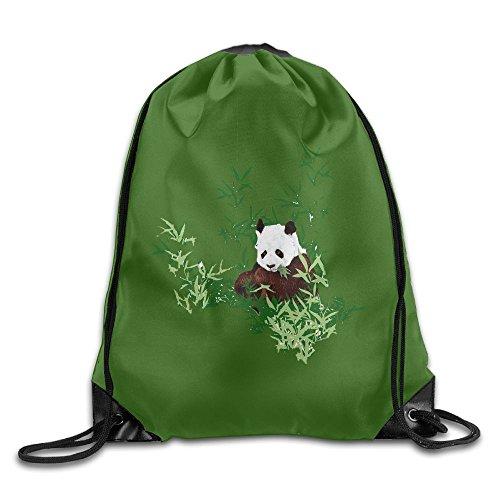 Sports Drawstring Backpacks Pandas Fashion Durable Polyester Gym Drawstring Knapsack Bags For Shoes from KJHNIP