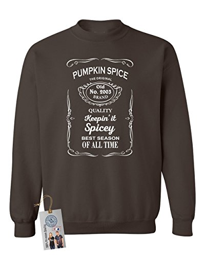Pumpkin Spice Shirt Best Season Crewneck Sweatshirt Dark Grey Medium