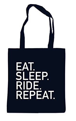 Eat Sleep Ride Repeat Bag Black