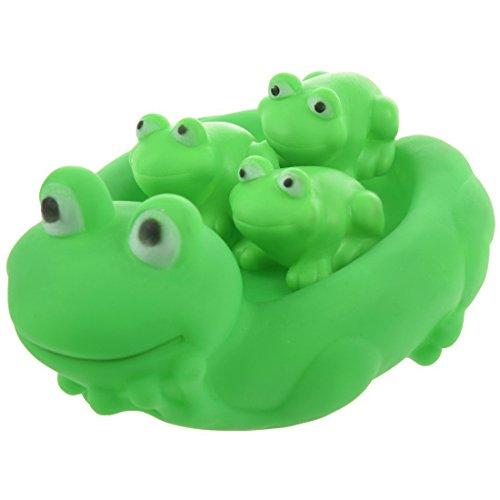 B3 Lovely Mummy and Baby Rubber Frog Squeaky Bath Toy