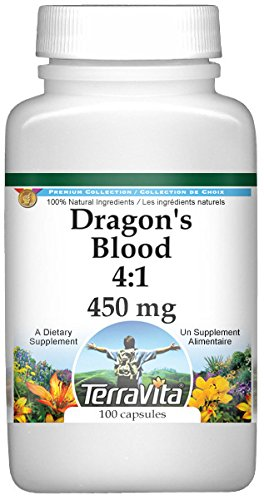 Dragon's Blood 4:1-450 mg (100 Capsules, ZIN: 519982) - 3 Pack by TerraVita (Image #1)