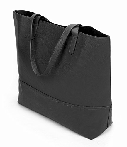 Review Overbrooke Large Vegan Leather Tote Bag – Womens Slouchy Shoulder Bag with Open Top