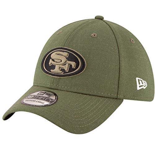 New Era Mens NFL 2018 Salute to Service 39Thirty Flex Fit Hat (Medium/Large, San Francisco ()