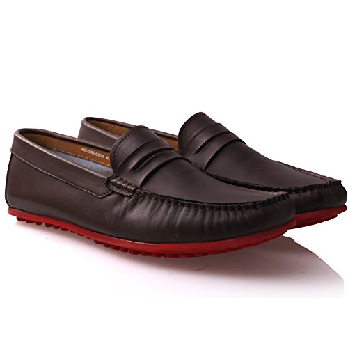 Pinace eleganti Mens slip Marrone ' formali Unze ' scarpe on wBHI4