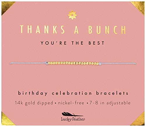 Lucky Feather Birthday Celebration Bracelet (Thanks a Bunch)
