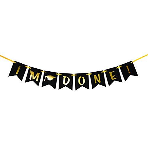 I'm Done Banner - Congrats Graduate Banner - 2019 Grad Party Decorations Supplies