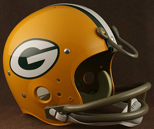 - Riddell Green Bay Packers 1961-1979 NFL Authentic Throwback Football Helmet