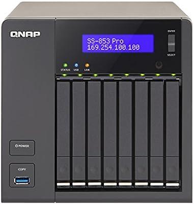 QNAP TS-853S Pro NAS Torre Ethernet Antracita Servidor de ...