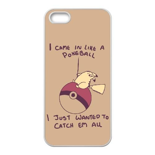 Came In Like A Pokeball J7A21T3LN coque iPhone 4 4s case coque cover white E16R3F