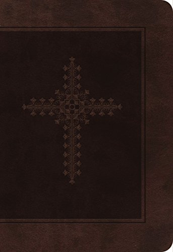 KJV, End-of-Verse Reference Bible, Personal Size, Giant Print, Imitation Leather, Brown, Indexed, Red Letter Edition (Classic)