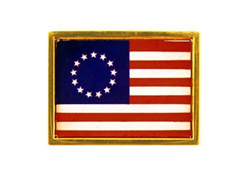 (Betsy Ross 13 Stars Flag Lapel Pin 1-1/8