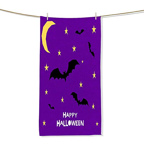 Print Soft Large Decorative Hand Towels Happy halloween