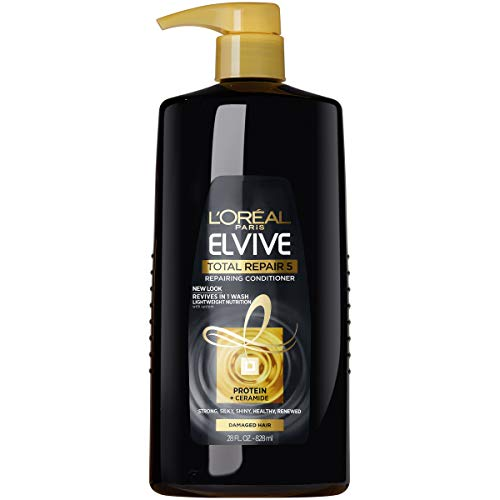 L'Oreal Paris Elvive Total Repair 5 Repairing Conditioner for Damaged Hair Conditioner with Protein and Ceramide for Strong Silky Shiny Healthy Renewed Hair 28 fl. oz.