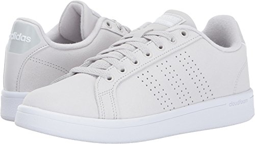 Casual Stripe Sneakers (adidas NEO Women's Cloudfoam Advantage Clean Sneakers, Grey One/Grey One/White, (7 M US))