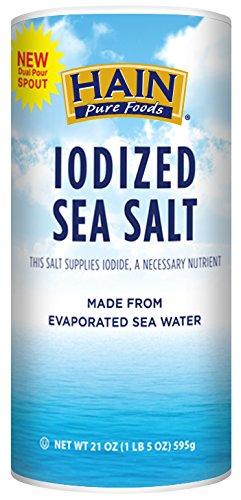 Hain Pure Foods Iodized Sea Salt, 21 oz.