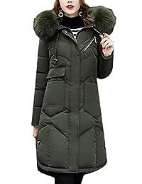 M&S&W Womens Long Down Coat Puffer Jacket Parka Fur Trim Hood