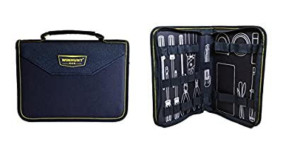 Beschan Portable Tool Zippered Hard Board Case Bag Pouch with Handles