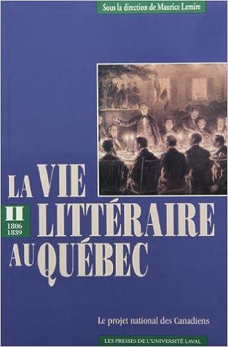 En ligne La vie littéraire au Québec pdf