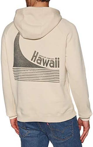 Lightning Bolt Hawaii Stripe Wave Fleece Pullover Hoody
