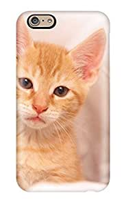 For Iphone 6 Protector Case Cure Little Orange Kitten Bed Sheets Felines Animal Cat Phone Cover