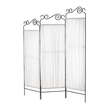 Ikea Ekne Paravent Gris Blanc 135 X 161 Cm Amazon Fr