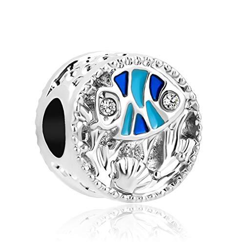 (Ocean Life Galaxy Turtle Clear Bead Fit Original Pandora Charms Silver Bracelet Trinket Women Man Jewelry Making A554 )