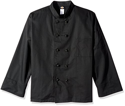Dickies Chef Classic Knot Button Coat, Black, XX-Large (Black Knot Coat Button)