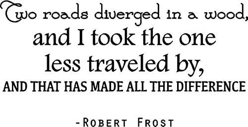 """Amazon.com: DS Inspirational Decals Robert Frost Vinyl Wall Decal 